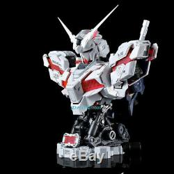1/35 Scale RX-0 UNICORN GUNDAM Bust Assembled Model LED Light In Box In Stock