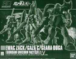 BANDAI HGUC 1/144 EWAC ZACK / GAZA C / GEARA DOGA UNICORN Ver Set Model Kit NEW