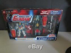 BanDai Mobile Suit Gundam 2001 Deluxe Edition RX-78 Gundam & G-Fighter MIB