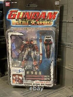Bandai Battle Scarred Mobile Suit Fighter Gundam Red Astray Action Figure MSIA