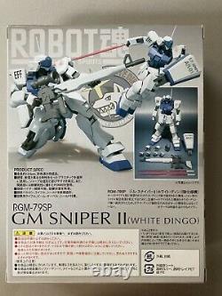 Bandai Robot Spirits Damashii Gundam GM Sniper White Dingo Action Figure