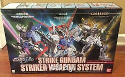 Bandai Strike Gundam 1/60 Striker Weapon System Buildable Action Figure With Box