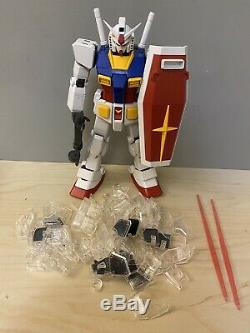 Built 12 GUNDAM Perfect Grade Action Figure Model Kit with Clear Parts & Weapons