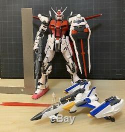 Built 12 Perfect Grade STRIKE ROUGE GUNDAM with SKY GRASPER Action Figure Model