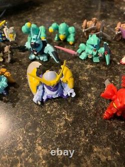Gundam Fight Superior Defender SD lot of 25 1.5 mini figures 03 Bandai 2003