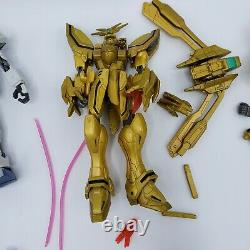 Gundam Lot 10 Action Figures Tons Of Weapons Accessories Bandai MSIA Early 2000s