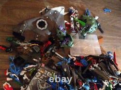 Huge vintage Bandai, Gundam model action figure PARTS lot Robots see pictures