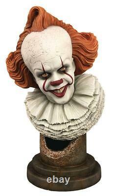 It Capitolo Due Pennywise Figure Busto Resina Statua 25 CM Diamond Horror Movie