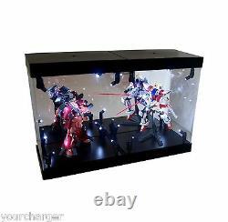MB-2 Display Box Acrylic Case LED Light House for Bandai Gundam Zaku 1/144 Model