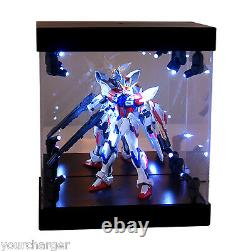 MB Display Box Acrylic Case LED Light House for Gundam 1/144 Model Action Figure