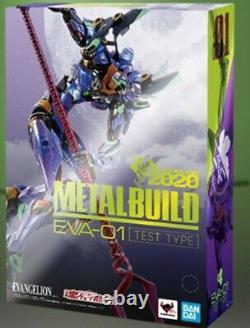 METAL BUILD Evangelion EVA-01 TEST TYPE EVA2020 Action figure, BANDAI, stock
