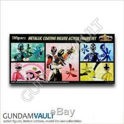 NEW SH Figuarts Power Rangers Super Samurai Metallic Action Figure Set Bandai