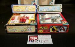 Seven Clover Vintage GUNDAM, METAL, GUNTANK, GUNCANNON Set of 4