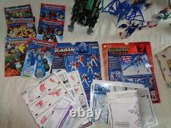 Vintage Mixed figure Lot of Gundams, Transformers, Zoids Etc Parts