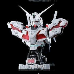 1/35 Rx-0 Unicorn Gundam Bust Led Modèle Assemblé Light In Box En Stock
