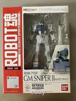 Bandai Spirits Robot Damashii Gundam Gm Sniper Blanc Dingo Action Figure