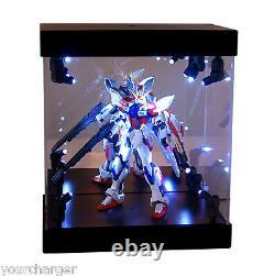 Boîte D'affichage MB Boîtier Acrylique Maison De Lumière Led Pour Gundam 1/144 Figure D'action Du Modèle