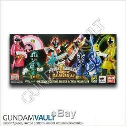 Nouveau Sh Figuarts Power Rangers Samurai Super Action Métallique Figure Set Bandai