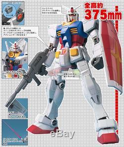 Rx-78-2 Gundam Taille Mega Gunpla Modèle Kit Montaggio 1/48 CM Bandai Japon 37.5